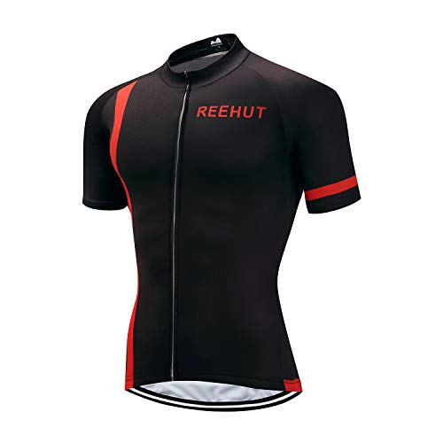 REEHUT Mens Breathable Cycling Jersey