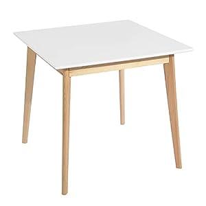 Design moderno. Tavolo da pranzo rotondo ø 80 cm, 4 posti, stile scandinavo, design contemporaneo, piano in legno massiccio MDF bianco. Stile scandinavo facilmente adattabile, questo tavolo rotondo con diametro di 80 cm creerà un bel punto focale nel...