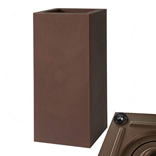 Vase Kube High C/Roues cm30 a2733 87 Noir