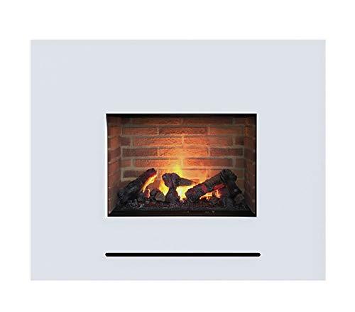 Elektrokamin GLOW FIRE Opti-myst Lessing, Wasserdampf Feuer, elektrischer Standkamin mit Fernbedienung, regelbare Flammenstärke (Lessing mit Steinrückwand)