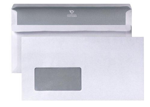POSTHORN Briefumschlag (125x235mm) selbstklebend mit Fenster weiß 80g 1000 Stück