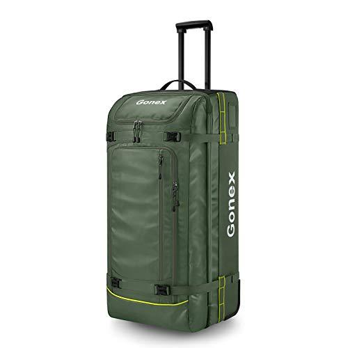 Gonex Reisetasche mit Rollen 100L Rollkoffer Reisekoffer groß Koffer Trolley Handgepäck XL 84x40x32 cm, Grasgrün