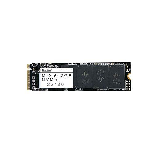 KingSpec 512 GB NVMe 22 * 80 SSD NAND - PCI-E Gen.3x4 - Velocidad de R / W Hasta 2400MB / s-1700MB / s Almacenamiento en flash de unidad de estado sólido [NVMe-2280-512GB]