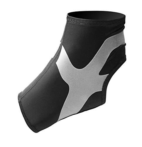 Ultraleicht Ankle Support Plus, Fußgelenk Bandage mit Power-Band Stabilisator Tape- graues Tape- linker Fuß