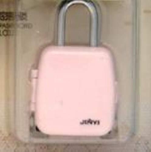Houer Leuke rollende bagage vorm Cartoon 3-cijferig sluizen 4 kleuren hangslot ladeslot Digitaal bagageslot, roze