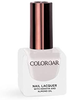 Colorbar Nail Lacquer with Keratin and Almond Oil, 12 ml Model (number/Name)1053-White Blush
