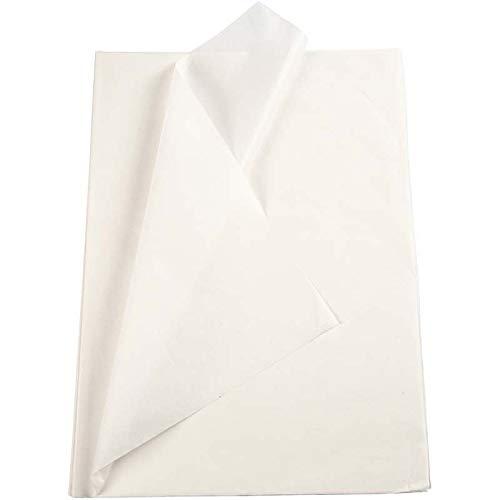 30 Blatt Seidenpapier weiß 50 x 70 cm