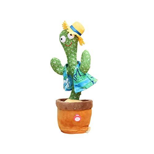 Bonbela Cactus Juguetes de Peluche de Canto y Baile Cactus Cactus electrónicos Juguetes de Peluche decoración Regalo para los niños