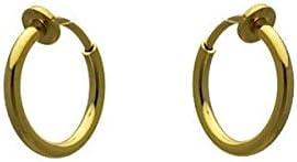 Cerceau 13mm Gold Plated Hoop Clip On Earrings