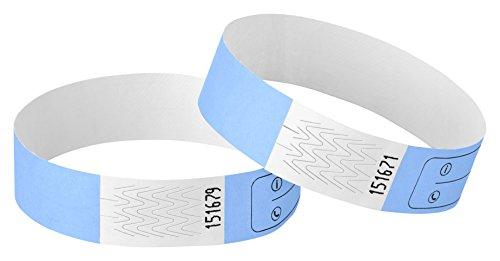 Haftpunkt Notfall-Armband für Kinder (20er Set) und Erwachsene mit Sicherheitsverschluss - Reissfest - Wasserfest - Premium SOS Armband - Sicherheitsarmband (Unisex, Skyblau)