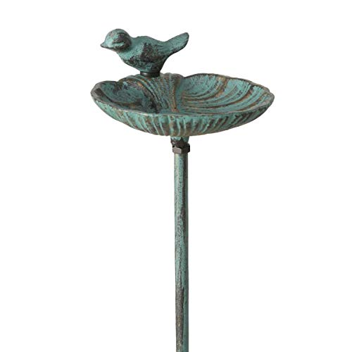 Vogeltränke, Vogelbad auf Gartenstab 2-Fach Sortiert, Höhe: 98 cm