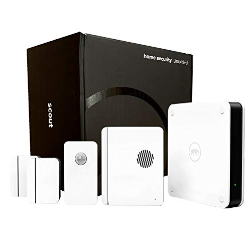 Scout Alarm Smart DIY Wireless Home Security System   5 Piece Kit - Perfect for Homes & Apartments Under 2000 Sq Ft   Works with Alexa   24/7 Professional Monitoring   No Contract