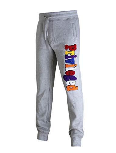 SCREENSHOT-P11977 Mens Premium Hip Hop Fashion Pockets Fleece Pants - Athletic Sportswear Jogger Chenille Embroidery Fitness Utility Sweatpants-H.Grey-Medium