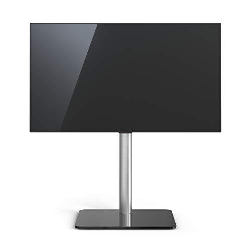 TV-Stand Spectral Just-Racks TV600 mit Glasboden in Schwarzglas. Höhe 96,8cm.
