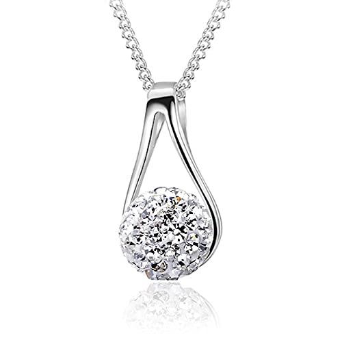 Moda Personalizada Cristal Brillante Shambhala Señoras Colgante Collar Joyería Cadena Corta Accesorios Mejor Regalo Para Novia