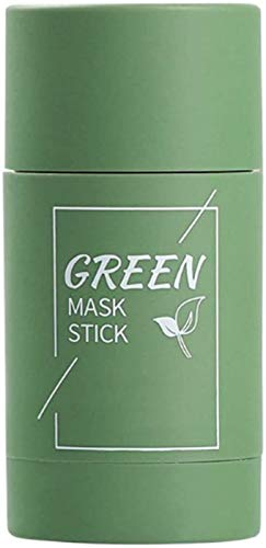 Green Tea Purifying Clay Stick Mask Oil Control Anti-Acne Eggplant,Oil-Control Cleansing Mask Green Acne Mask Purple,Green Tea moisturizing Hydrating Cleansing Solid Mask (1PCS)