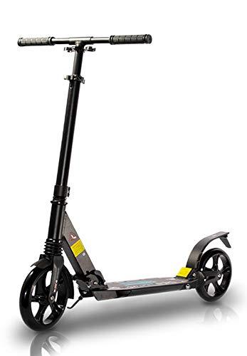 TENBOOM Roller Erwachsene, Großes Rad Scooter Roller Kinder 8 Jahre, Klappbar Cityroller mit hintere Bremsen und Tragegurt, Zwei Stoßdämpfer