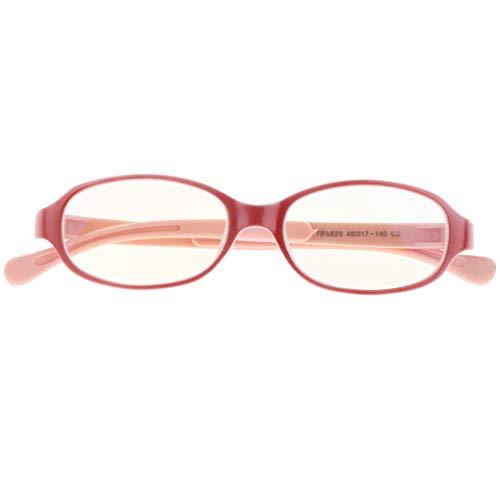 Fenteer Gafas Para Niños Gafas Con Luz Azul Gafas Para Computadora Gafas Con Lentes Transparentes, Hechas De Silicona TR - Rosa morado, tal como se describe