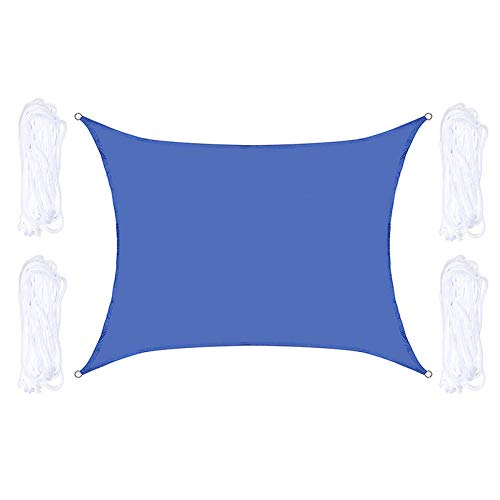 Sol Impermeable Refugio Triángulo Sombrilla Al Aire Libre Detalle Patio Patio Pool Shades Sail Toldo Camping Shade Clothrectangle-Blue_6*8M