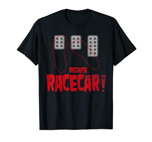 Transmisión manual de tres pedales porque coche de carreras Camiseta