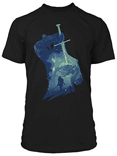 JINX The Witcher 3 Kikimore Hunt - Camiseta para hombre - negro - Medium