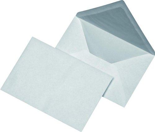 100 Briefumschläge DIN B6 Kuvert mit Seidenfutter