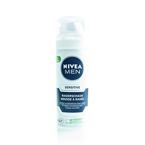 5Pack Nivea Mini-Rasierschaum Sensitive 5x 50ml/ Rasierpflege/Schaum zum Rasieren/Rasierschaum reisegröße
