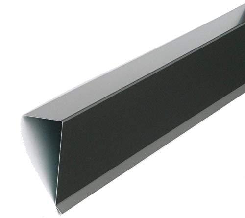 Ortgangblech Ortgangwinkel 2000 mm lang Winkel 80 mm x 155 mm Dach-Abschluss-Blech Dachrandblech Dach Kantblech Alu Anthrazit Grau (80mm x 155mm)