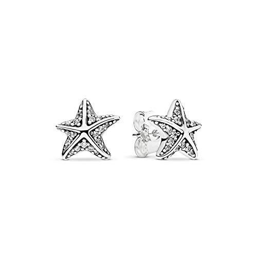 Pandora Jewelry Tropical Starfish Cubic Zirconia Earrings in Sterling Silver