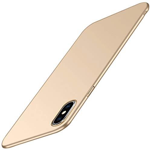 JEPER iPhone XS Cover, iPhone X Custodia, 360 Gradi Ultra Sottile Cassa 3 in 1 Duro Hard PC Case Rigido Shock-Absorption e Cover per iPhone XR (Oro, iPhone X 5.8inch)