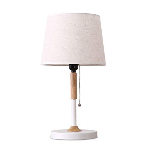 Lámpara de mesa Estilo nórdico lámpara de mesa de madera maciza creativa moderna simple de la sala de estar Protección de los ojos de la cabecera ahorro de energía LED de la lámpara de escritorio Clás