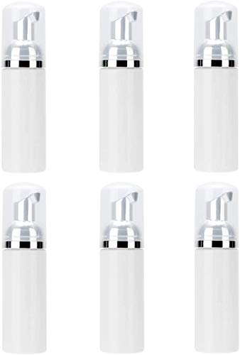 6Pcs Foaming flesverdeler Lege Plastic Flessen met pomp voor de make-up Lotion Douche Shampoo Container, 60ml