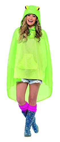 Smiffys Adult Unisex Frog Party Poncho, One Mate, Kleur: Groen, 27612