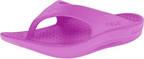 Telic Energy Flip Flop - Comfort Sandals for Men and Women | 2XS (Women's 6) Forbidden Fuchsia