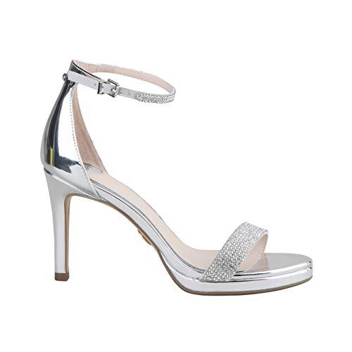 Buffalo 1291199 sandały damskie, srebrny - Srebro - 40 EU