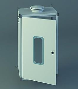 Chimeplast 800480300ARMPEQ - Armario protector para calentador, aluminio blanco 800 x 480 x 300