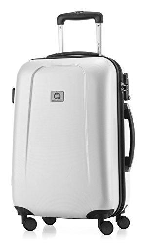 HAUPTSTADTKOFFER - Wedding - Handgepäck Koffer Kabinen Hartschalen-Koffer Trolley Rollkoffer Reisekoffer, TSA, Doppelrollen 55 cm, 42 Liter, Weiß