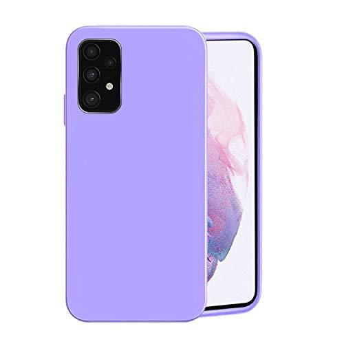 Funda para Samsung A52(4G,5G),Fundas Samsung Galaxy A52 De Líquida Silicona TPU Antigolpes Case,Cubierta a Prueba Golpes con Forro De Microfibra (Samsung Galaxy A52 4G, Púrpura)