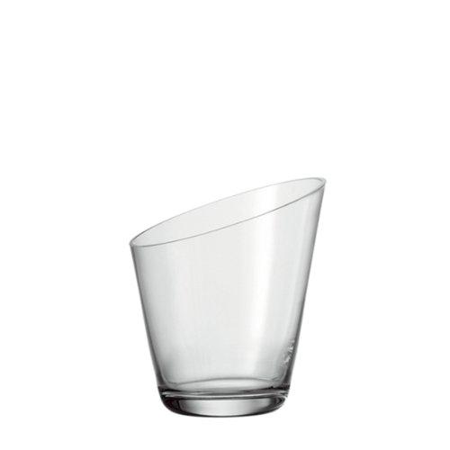 Leonardo Dynamic Sekt-Kühler, handgefertigter Flaschen-Kühler aus Glas, Wein-Kühler im modernen Stil, Ø 210 mm, 069923