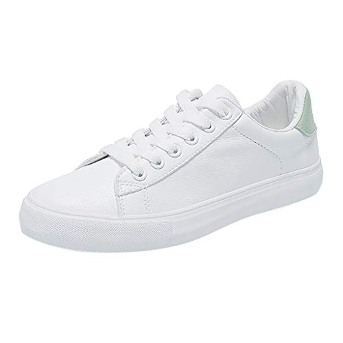 riou Zapatillas de Deportivos de Running para Mujer Zapatos Blancas de Estudiante piña Gimnasia Ligero Sneakers 35-40