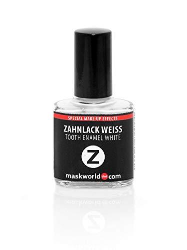 Maskworld Professioneller Special Effect Zahnlack in Weiß für Halloween, Karneval, Motto-Party, LARP & Fantasy