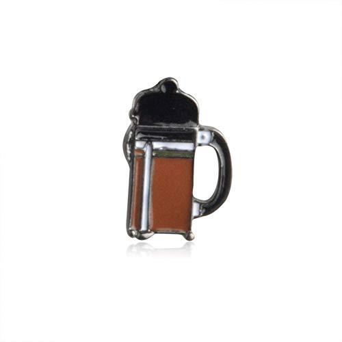 WYLBQM Broche Zarte Kaffee-Serie mit Abzeichen geformt Blumentopf Hand Tasse Kaffee und Filter Chemex Brosche Modeschmuck Großhandel