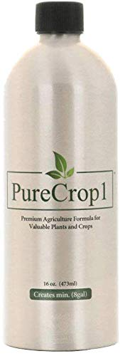 PureCrop1 Organic Agriculture Concentrate | Insecticide, Fungicide, Biostimulant, Surfactant | Eliminate Pests, Molds and Mildews on Plants | Safe for use Around Kids, Pets, and Bees | 16 Ounces