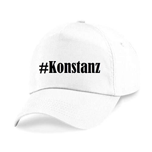Reifen-Markt Base Cap Hashtag #Konstanz Größe Uni Farbe Weiss Druck Schwarz