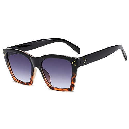 Fasion Sunglasses Occhiali da Sole Occhiali da Sole Quadrati Vintage Cat Eye per Le Donne Occhiali da Sole Leopardati Ne