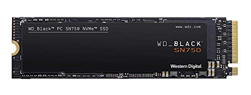 WD_Black SN750 500GB  NVMe Internal Gaming SSD - Gen3 PCIe, M.2 2280, 3D NAND, Up to 3430 MB/s - WDS500G3X0C