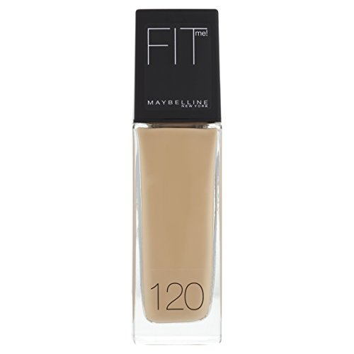 Maybelline New York Make Up, Fit Me! Foundation mit LSF18, Für makellose Haut, Alle Hauttypen, Nr. 120 Classic Ivory, 30 ml