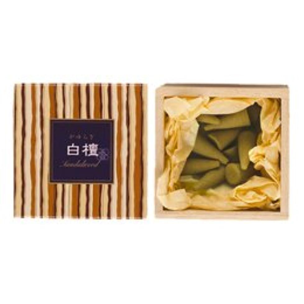 クラックポットチョコレートレオナルドダかゆらぎ お香 白檀 コーン 香立付 12個 【日本香堂】