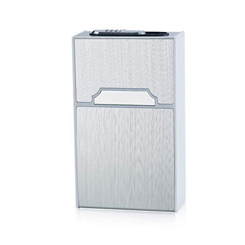 ytrew Cigarette case with Lighter Cigarette case 2 in 1 Cigarette Case USB Rechargeable Lighter Flameless Smokeless Electronic Lighter Windproof Cigarette Box,Dark Black