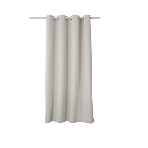 WOLTU #329, Vorhang Vorhänge Blickdicht mit Ösen, 250g/m2 Schwerer Verdunkelungsvorhang Thermovorhang lichtdicht für Wohnzimmer Schlafzimmer Küche 135x175 cm Crème, (1 Stück)